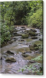 Rocks In The Stream Acrylic Print