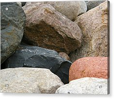 Rocks In Various Colors Acrylic Print
