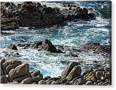 Rocks Off Shore Cabo San Lucas Acrylic Print by Linda Phelps