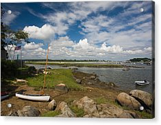 Rocks On The Coast, Annisquam Harbor Acrylic Print by Panoramic Images