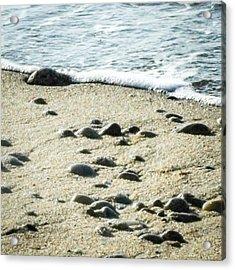 Rocks Sand And Sea Acrylic Print