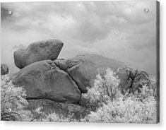 Rocks Under Ir Sky Acrylic Print