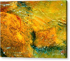 Rocks Under The Stream By Christopher Shellhammer Acrylic Print
