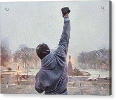 Rocky Balboa Acrylic Print by Dan Sproul