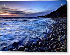 Rocky Beach Sunset Acrylic Print by EXparte SE