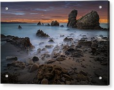 Rocky California Beach Acrylic Print by Larry Marshall