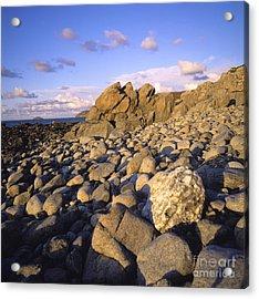 Rocky Coast. Normandy. France. Europe Acrylic Print by Bernard Jaubert