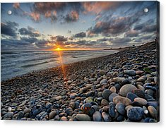 Rocky Coast Sunset Acrylic Print by Peter Tellone