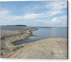 Rocky Coastline In Hamina Acrylic Print