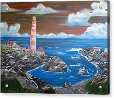 Acrylic Print featuring the painting Rocky Cove by The GYPSY And DEBBIE