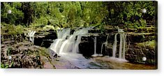 Acrylic Print featuring the photograph Rocky Crossing Falls by David Rich