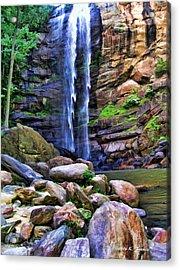 Rocky Falls Acrylic Print by Kenny Francis