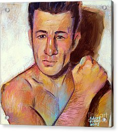 Acrylic Print featuring the painting Rocky Graziano  by Robert Phelps