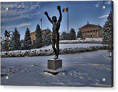 Rocky In The Snow Acrylic Print