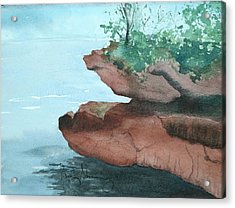 Rocky Ledge Acrylic Print