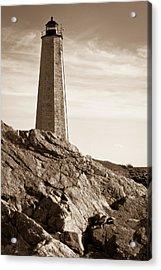 Rocky Lighthouse Acrylic Print