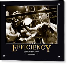 Rocky Marciano Efficiency  Acrylic Print