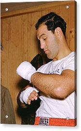 Rocky Marciano Getting Ready Acrylic Print by Retro Images Archive