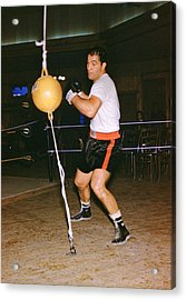 Rocky Marciano Training Acrylic Print by Retro Images Archive