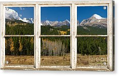 Rocky Mountain Continental Divide Rustic Window View Acrylic Print