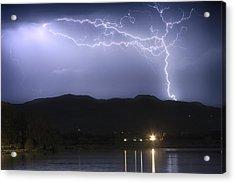 Rocky Mountain Foothills Lightning Extravaganza Acrylic Print