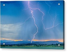 Rocky Mountain Foothills Lightning Strikes 2 Hdr Acrylic Print by James BO  Insogna
