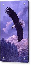 Rocky Mountain High Acrylic Print by Richard De Wolfe