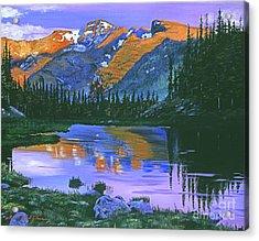 Rocky Mountain Lake Acrylic Print by David Lloyd Glover