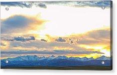 Rocky Mountain Lookout Sunset Panorama Acrylic Print