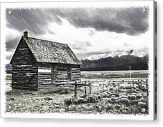 Rocky Mountain Past Acrylic Print