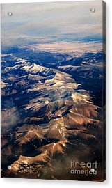 Rocky Mountain Peaks From Above Acrylic Print by Darleen Stry