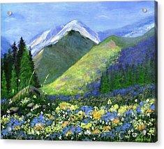 Rocky Mountain Spring Acrylic Print
