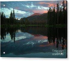 Rocky Mountain Sunset Acrylic Print