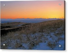 Rocky Mountain Sunset Acrylic Print by Terry Reynoldson