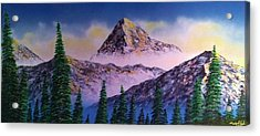 Acrylic Print featuring the painting Rocky Mountains by Michael Rucker