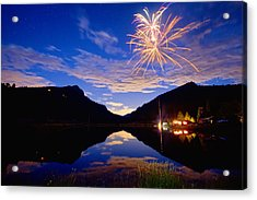 Rocky Mountains Private Fireworks Show Acrylic Print by James BO  Insogna
