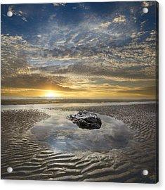 Rocky Pool At Dawn Acrylic Print by Debra and Dave Vanderlaan