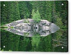 Rocky Reflection Acrylic Print by David Porteus