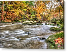 Acrylic Print featuring the photograph Rocky River by Brent Durken