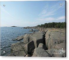 Rocky Seashore 2 In Hamina  Acrylic Print