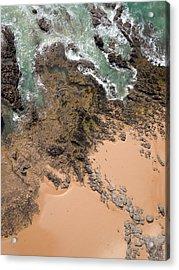 Rocky Shoreline Abstract Cape Woolamai Acrylic Print