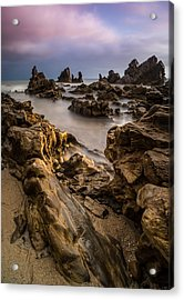 Rocky Southern California Beach 5 Acrylic Print by Larry Marshall