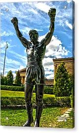 Rocky Statue Acrylic Print by Frank Savarese