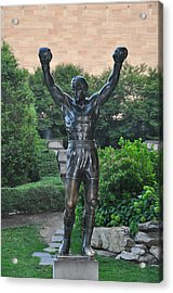 Rocky Statue - Philadelphia Acrylic Print by Bill Cannon