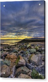 Rocky Sunrise Acrylic Print by Ian Mitchell