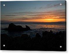 Rocky Sunset At Corona Del Mar Acrylic Print by John Daly