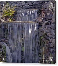 Rocky Waterfall Acrylic Print by Michael Waters