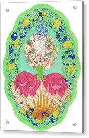 Rococo Fantasy Acrylic Print by Juliana Brandon