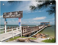 Rod And Reel Pier Acrylic Print