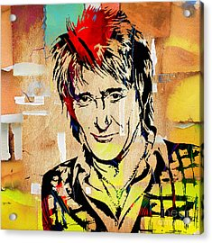 Rod Stewart Collection Acrylic Print by Marvin Blaine